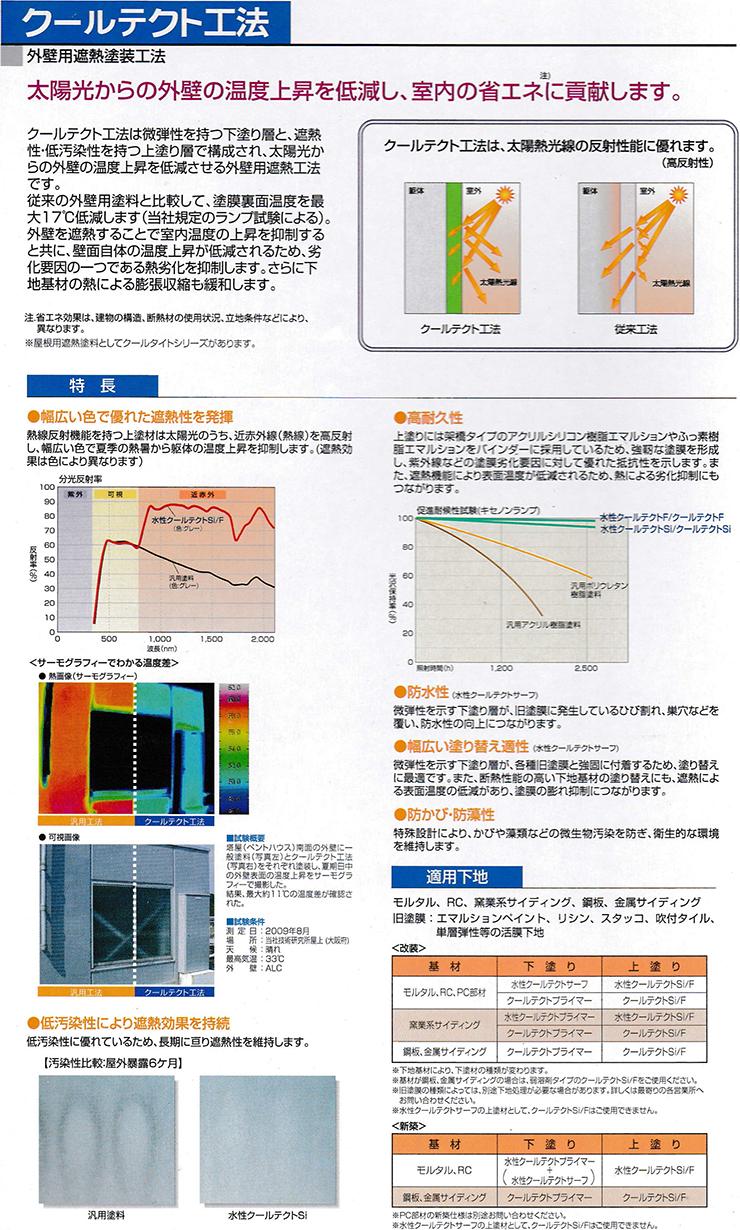 外壁遮熱のクールテクト工法