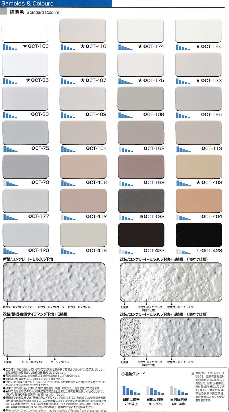 外壁遮熱のSamples&Colours