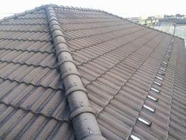屋根塗装:モニエル瓦(施工前)